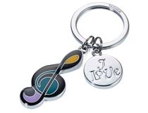 Keyring I Love Music silver