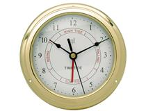 15CM TIME & TIDE CLOCK BRASS
