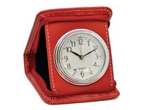 SQUARE CASE TRAVEL CLOCK RED