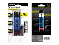 Radiant 3-in-1 LED Mini Flashlight Blue