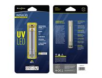 X5 UV LED Flashlght- Titanium/UViolet