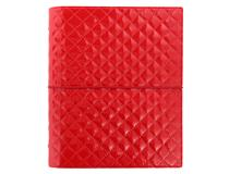 A5 Domino Luxe Organiser Red