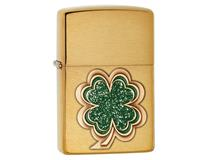 28806 FOUR LEAF CLOVER EMB-BRUSHED BRASS