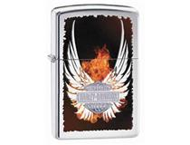 28824 H-D FLAMING FEATHERED LOGO-H/P CHR