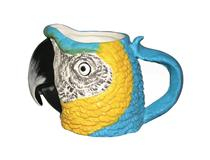 MACAW HEAD MUG BLUE