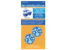 MINI BLUE DOTS CUPCAKE 60PCS