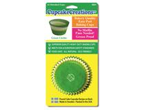 STD GREEN CIRCLE CUPCAKE 32PCS