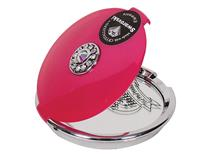 COMPACT MIRROR 5X SWAROVSKI CRYSTAL PINK