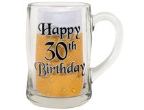 30TH B/DAY BLK ETCH 400ML MUG