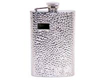 8OZ HIP FLASK HAMMER DESIGN