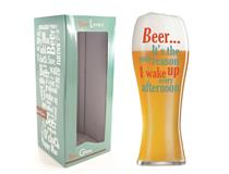 BEER LOVER WAKE BEER GLASS
