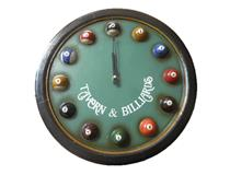 WALL CLOCK POOL TABLE
