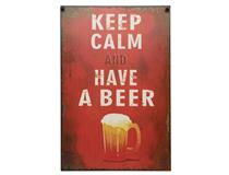 METAL PLAQUE - KEEP CALM HAVE A BEER