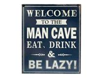 METAL PLAQUE - MAN CAVE EAT/DRINK