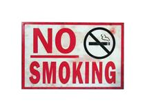METAL PLAQUE - NO SMOKING