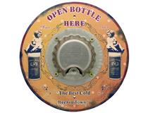 METAL PLAQUE - ROUND BOTTLE OPENER