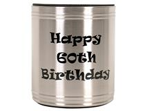 S/S 60TH B/DAY STUBBY COOLER