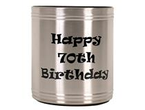 S/S 70TH B/DAY STUBBY COOLER