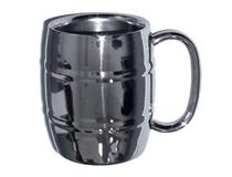 S/S HOOPED BEER MUG 10OZ