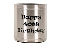 SS 40TH BIRTHDAY STUBBY COOLER