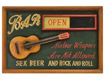 WALL PLAQUE BAR OPEN/CLOSED