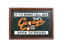 WALL PLAQUE DADS GARAGE