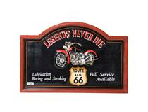 WALL PLAQUE LEGENDS NEVER DIE