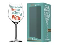 WINE LOVER TIME WINE GLASS