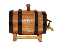 BAROSSA WINE BARREL 12 ltr STEEL HOOPS