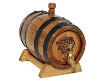 BAROSSA WINE BARREL 4.5 ltr STEEL HOOPS