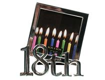 18TH CANDLES FRAME SILVER