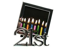 21ST CANDLES FRAME SILVER