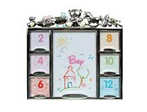 BABY 7 PHOTO FRAME SILVER
