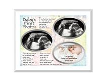 GLASS FRAME BABYs FIRST PHOTOS