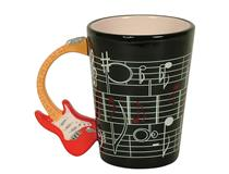GUITAR CUP BLACK RED ELECTRIC HANDLE