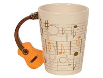 GUITAR CUP WHITE NATURAL ACOUSTIC HANDLE
