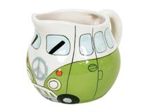 PEACE CAMPERVAN MILK JUG GREEN