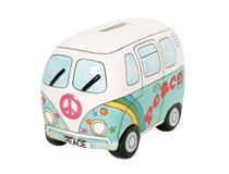 PEACE CAMPERVAN MONEY BOX PSYC BLUE