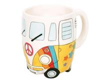 PEACE CAMPERVAN MUG PSYC YELLOW