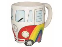RAINBOW PEACE CAMPERVAN COFFEE MUG