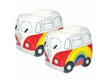 RAINBOW PEACE CAMPERVAN EGG CUP 2PCS