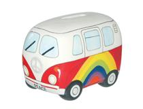 RAINBOW PEACE CAMPERVAN MONEY BOX