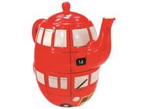 ROUTEMASTER BUS TEAPOT/CUP FOR ONE