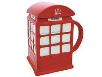 TELEPHONE BOX MUG WITH LID