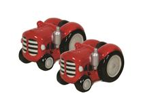 TRACTOR SALT&PEPPER SET RED/RED