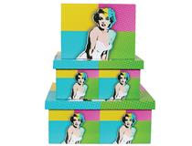 POP ART BOXES 3PCSET-MARILYN MONROE(1=3)