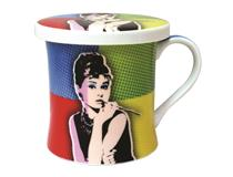POP ART MUG & COASTER - AUDREY HEPBURN
