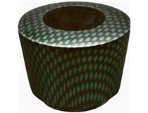 ALG. CARBON FINISH BOWL GREEN