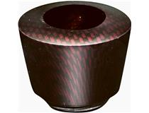 ALG. CARBON FINISH BOWL RED