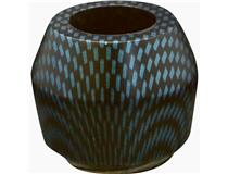 ALG. CARBON FINISH BOWL BLUE